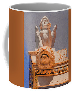 Coffee Mug featuring the photograph Athens, Greece - Sphinx And Scupper by Mark Forte