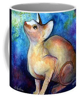 Sphynx Cat 5 Painting Coffee Mug by Svetlana Novikova