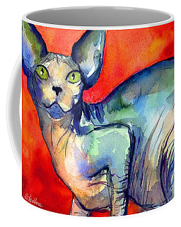 Sphynx Cat 6 Painting Coffee Mug by Svetlana Novikova