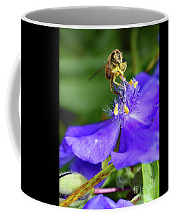 Spiderwort And The Bee Coffee Mug