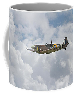 Coffee Mug featuring the digital art   Spifire - Us Eagle Squadron by Pat Speirs