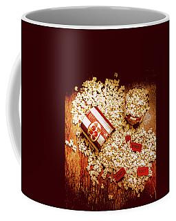 Spilt Tubs Of Popcorn And Movie Tickets Coffee Mug