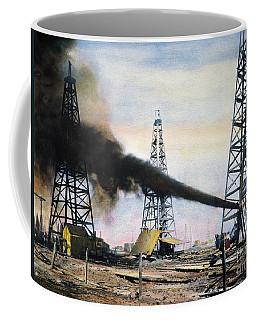 Spindletop Oil Pool, C1906 Coffee Mug