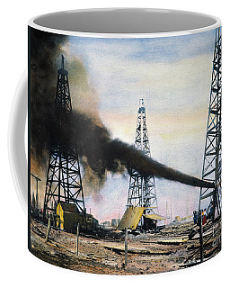Coffee Mug featuring the photograph Spindletop Oil Pool, C1906 by Granger