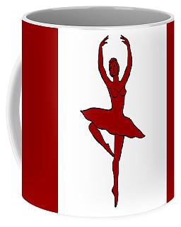 Spinning Ballerina Silhouette Coffee Mug