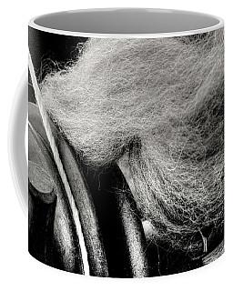 Spinning Wheel And Wool Coffee Mug