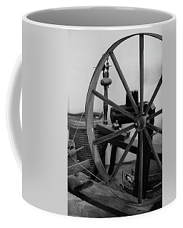 Coffee Mug featuring the photograph Spinning Wheel At Mount Vernon by Nicole Lloyd