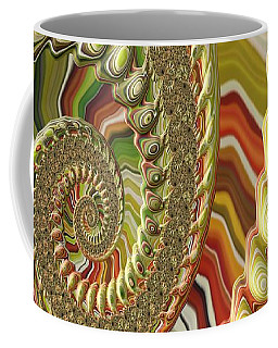 Coffee Mug featuring the photograph Spiral Fractal by Bonnie Bruno