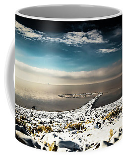 Spiral Jetty In Winter Coffee Mug