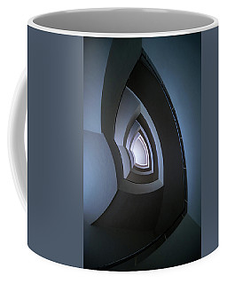 Spiral Modern Staircase In Blue Tones Coffee Mug