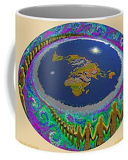 Spiral Of Souls Flat Earth Coffee Mug