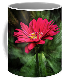 Spiral Pink Flower Focus Coffee Mug