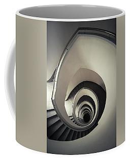 Spiral Staircase In Beige Tones Coffee Mug by Jaroslaw Blaminsky