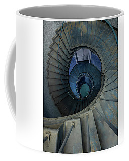 Spiral Staircase In Brown And Blue Colors Coffee Mug
