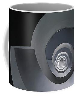 Spiral Staircase In Grey And Blue Tones Coffee Mug by Jaroslaw Blaminsky