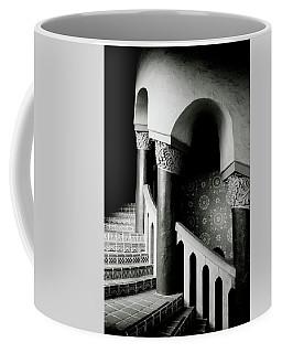 Spiral Stairs- Black And White Photo By Linda Woods Coffee Mug