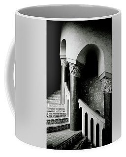 Spiral Stairs- Black And White Photo By Linda Woods Coffee Mug by Linda Woods