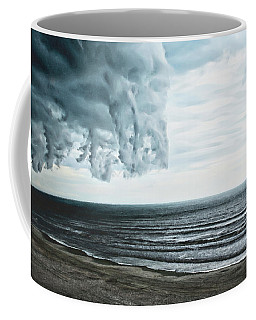 Spiraling Storm Clouds Over Daytona Beach, Florida Coffee Mug