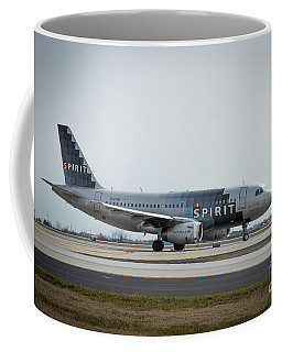 Coffee Mug featuring the photograph Spirit Airlines A319 Airbus N523nk Airplane Art by Reid Callaway