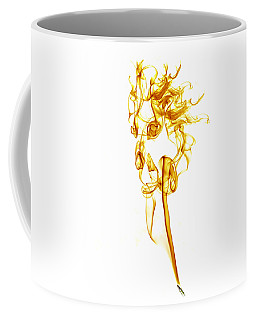 Coffee Mug featuring the photograph Ghostly Smoke - Orange by Nick Bywater