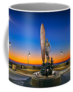 Spirit Of Imperial Beach Surfer Sculpture Coffee Mug