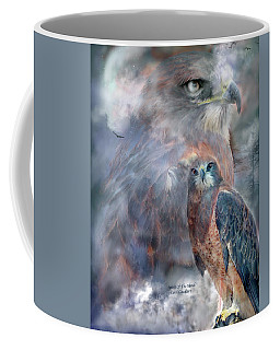 Spirit Of The Hawk Coffee Mug by Carol Cavalaris