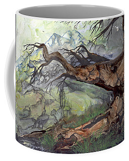 Coffee Mug featuring the painting Spirit Tree by Sherry Shipley