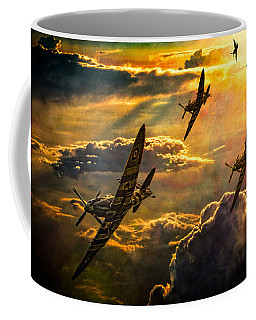 Coffee Mug featuring the photograph Spitfire Attack by Chris Lord