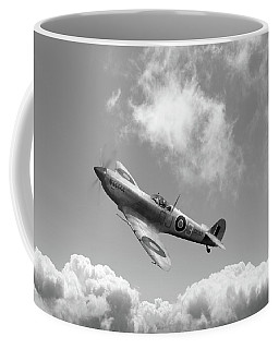 Spitfire In Desert Colours Bw Version Coffee Mug by Gary Eason