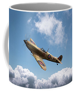 Spitfire In Desert Colours Coffee Mug by Gary Eason
