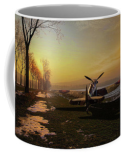 Spitfire In Winter Coffee Mug