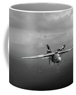 Coffee Mug featuring the photograph Spitfire Pr Xix Ps915 Inverted by Gary Eason