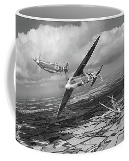 Coffee Mug featuring the photograph Spitfire Tr 9 Fighter Affiliation Bw Version by Gary Eason