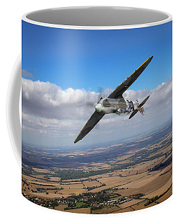Coffee Mug featuring the photograph Spitfire Tr 9 On A Roll by Gary Eason