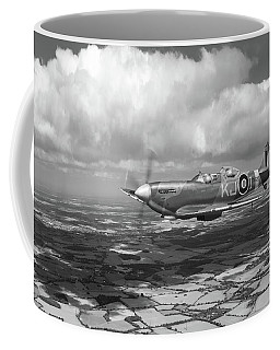 Coffee Mug featuring the photograph Spitfire Tr 9 Sm520 Bw Version by Gary Eason