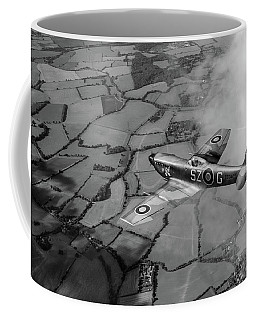 Spitfire Xvi Td240 Sz-g Black And White Version Coffee Mug by Gary Eason