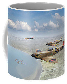 Spitfires Over Tunisia Coffee Mug by Gary Eason