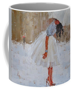 Coffee Mug featuring the painting Splash by Laura Lee Zanghetti