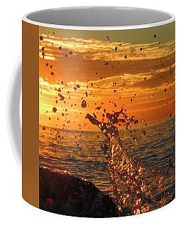 Coffee Mug featuring the photograph Splash by Linda Hollis
