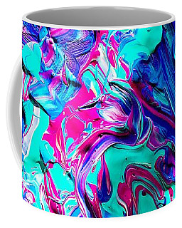Coffee Mug featuring the mixed media Splash Of Color by Monique Faella