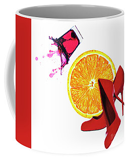 Splash Of Red Coffee Mug