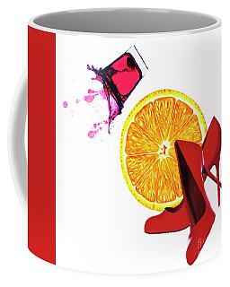 Splash Of Red Coffee Mug by Elena Nosyreva