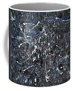 Splattered - Grey Coffee Mug by Jacqueline Athmann