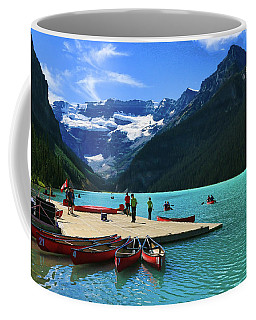Coffee Mug featuring the photograph Splendid Beauty Of Lake Louise by Ola Allen