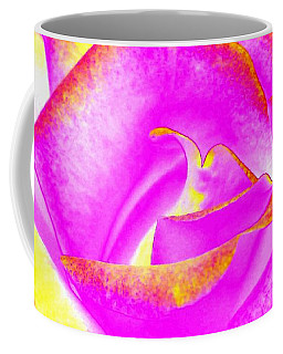 Coffee Mug featuring the mixed media Splendid Rose Abstract by Will Borden