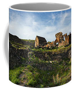 Splendid Ruins Of St. Sargis Monastery In Ushi, Armenia Coffee Mug