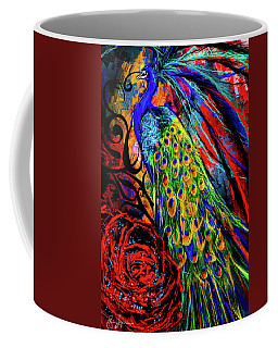 Splendor Of Love And Glory - Peacock Colorful Artwork Coffee Mug