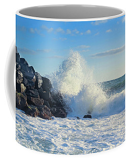 Coffee Mug featuring the photograph Splish Splash by Alison Frank