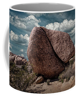 Coffee Mug featuring the photograph Split Rock In Joshua Tree National Park by Randall Nyhof