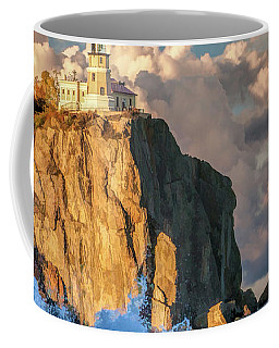 Coffee Mug featuring the painting Split Rock Lighthouse by Christopher Arndt